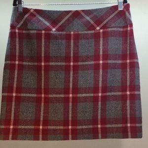 Eddie Bauer Red & Gray Mini Skirt Size 12 Tall
